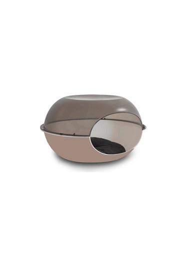 JBL Mp Luna Şeffaf Gri-Kahverengi Kedi Evi 57*38*31Cm Renkli